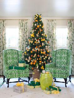 Christmas Tree Design in Livingroom