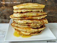 Pancakes cu banane | Sweets Recipes, Pancakes, Food And Drink, Breakfast, Banana, Morning Coffee, Pancake, Crepes