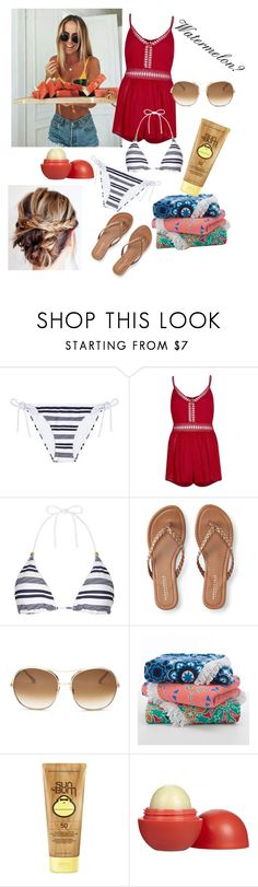 """""""Watermelon Anyone?"""" by merylrs ❤ liked on Polyvore featuring Heidi Klein, River Island, Aéropostale, Chloé, Sun Bum and Eos"""