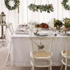 Blog déco design Joli Place Décoration de table de Noël blanc argent idée inspiration