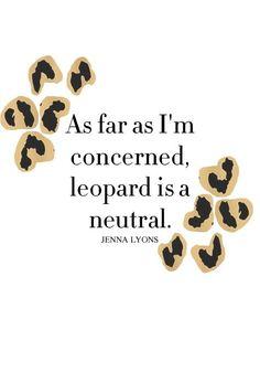 Leopard print rules