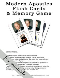 Apostles flash cards & memory game