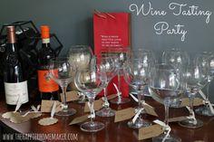 Wine Tasting Party with free printable wine tasting note card!