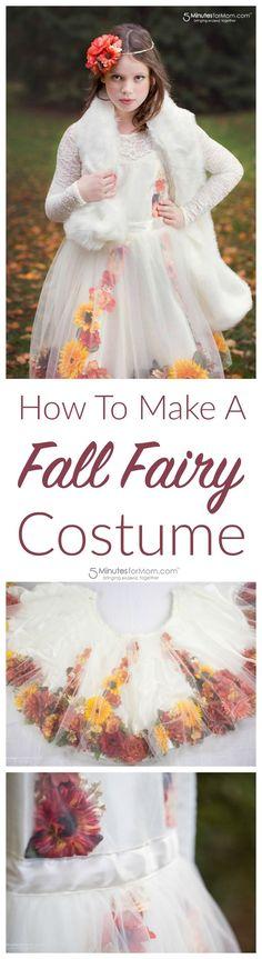 How To Make A Fall Fairy Costume - Fall Fairy Costume DIY Tutorial - How to Create a Fall Flower Dress #halloween #DIYcostume #costume