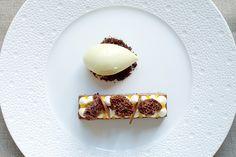 Yummy dessert at Two Michelin star The Ledbury Restaurant in London