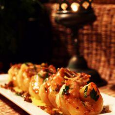 Apple Beer & Garlic Glazed Shrimp
