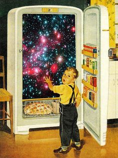 No more galaxies for today, Timmy! #vintage #art #print