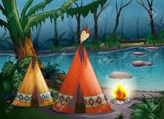 Traditional indian tents in the woods Stock Illustration , Eps Vector, Vector Free, Indiana, Royalty, Fair Grounds, River, Illustration, Artist, Painting