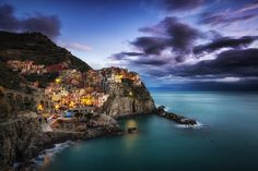 Manarola Blues II by Aaron Choi on 500px
