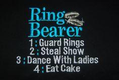 For Emmett @Nicole: Cupcakes & Dreams Ring Bearer or Flower Girl Onesie bodysuit Tshirt by caryskids, $18.00