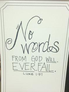 weekly truth, week 36 | luke 1:37