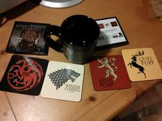 This set of coasters from Dark Horse is a must for fans of HBO's Game of Thrones.