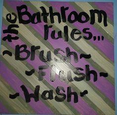 Kids bathroom Bathroom Rules, Cool Stuff, Kids, Home Decor, Young Children, Children, Kid, Interior Design, Children's Comics