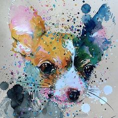 "Back to my watercolour painting, it's been awhile :) ""Chihuahua 2"" original painting by Tilen Ti A4 • 210 x 297 mm • 8.3 x 11.7 inches Watercolour online store: tilenti.tictail.com ———————————- #tilenti #tilen #theartcommunity #watercolour #paintings..."