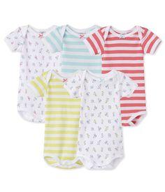 Petit Bateau Baby - Mädchen Body 17494, 5er Pack, Gr. 62 (Herstellergröße: 3m/60cm), Mehrfarbig (SPECIAL LOT 00) ab 23,96 Euro