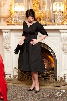 1950s black faille cocktail dress. Classy Lady, Classy Women, Love Fashion, Vintage Dresses, Vintage Inspired, 1950s, Cocktail, Feminine, Formal Dresses