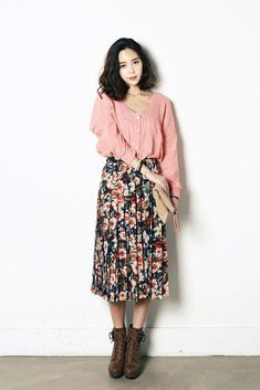 c6f8440fd8c1 Shop for Flower Chiffon Long Skirt at Korean Fashion Store. Discover the  hottest Korean fashion trending in South Korea at our online clothing store.