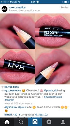 Nyx 'Coffee' lip liner