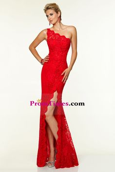 1af9a819f78 2015 Sheath Prom Dresses One-Shoulder Beaded Lace Floor-Length Zipper Back  US