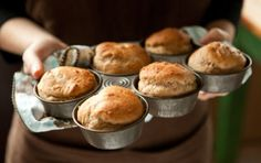 """Easy Whole Wheat Dinner Rolls // Homemade bread, especially dinner rolls, brings that special, home cooked feeling to just about any meal. These """"no need to knead"""" rolls are simple to prepare and have a delightful, rustic flavor. If desired, brush a bit of beaten egg over the dough before baking for a rich, golden brown color."""