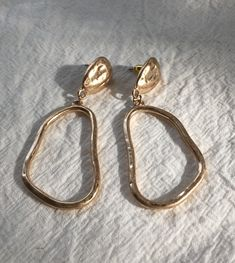 Lake Saiko Earrings in Gold www.thehexad.com