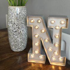 Letter lamp - silver N