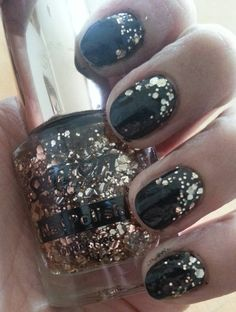 FA black and gold glitter gradient! - Imgur