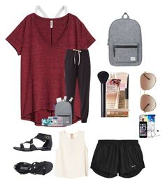 """travel #1 ♡ friends house"" by hhaileyyyy on Polyvore featuring Calvin Klein, DKNY, Monki, Casetify, Essie, Maybelline, Herschel Supply Co., Michael Kors, Steve Madden and Wouf"