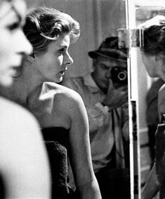 Yul Brynner photographing Ingrid Bergman. I assume this is Anastatia related. I am a sucker for anything Bergman is in, like this, which maybe isn't so great, but somehow, she is.