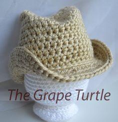 Crochet-chapeau de Cowboy accessoires de bébé par TheGrapeTurtle