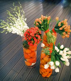 Orange/summer time/flower arrangement/official event