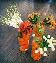 Orange/summer time/flower arrangement/official event