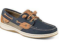 Ivyfish 3-Eye Boat Shoe, Navy / Cognac