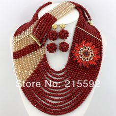 Find More Jewelry Sets Information about 2014 New Fashion Nigerian Wedding African Beads Jewelry Set Red&Champange Crystal Beads Jewelry Set Free Shipping AJS291,High Quality Jewelry Sets from Emily's Jewelry DIY Store on Aliexpress.com
