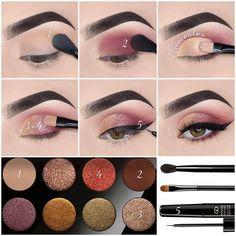 10 Latest Natural Eyeshadow Makeup Tutorials For Winter – Eye Makeup natural Purple Eye Makeup, Smokey Eye Makeup, Eyeshadow Makeup, Easy Eyeshadow, Yellow Eyeshadow, Makeup Pro, Eyeshadow Palette, Makeup Tips, Natural Eyeshadow