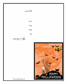 Free Do It Yourself Halloween Invitation Template Crafts For Kids Diy