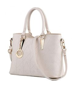 f875f31397fc JHVYF Women Claissic Top Handle Handbag Crossbody Casual Purse Satchel Tote  - C Beige - CU18I6LQDE3