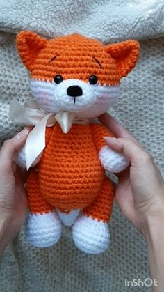 AMIGURUMI FOX crochet pattern for beginners for beginners free pattern toys easy crochet AMIGURUMI FOX - crochet pattern for beginners - Erziehung Crochet Animal Patterns, Stuffed Animal Patterns, Crochet Patterns Amigurumi, Crochet Animals, Crochet Dolls, Knitting Patterns, Crochet Fox Pattern Free, Knitting Ideas, Yarn Animals