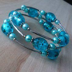 Light blue and silver bracelet  £5.99