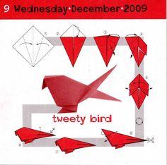 easy origami bird instructions