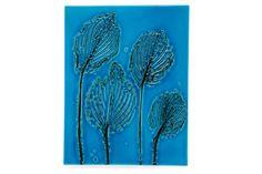 TOINI MUONA, A CERAMIC PLATE. Signed TM, Arabia. Leaf motif, turquoise glazing. 28,5x22 cm. Ceramic Plates, Ceramic Art, Turquoise, Ceramics, Glass, Artwork, Pottery Plates, Ceramica, Pottery