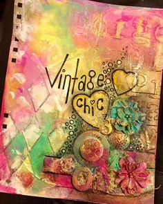 Vintage Chic - Finnabair Inspired Art Journal Page by Tracy Scott
