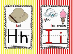 Decorate your classroom with these great Alphabet Posters, in a variety of sizes. Perfect for Word Walls, with vowels in red and feature both long and short sound images.  Striped design looks great with other classroom themes as well. $