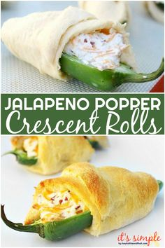 Jalapeno popper crescent rolls are great as an appetizer for a party, game day, . Jalapeno popper crescent rolls are great as an appetizer for a party, game day, or just a simple sn Jalapeno Poppers Crescent Rolls, Crescent Roll Appetizers, Crescent Roll Recipes, Stuffed Crescent Rolls, Finger Food Appetizers, Appetizer Recipes, Appetizer Party, Delicious Appetizers, Finger Foods