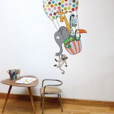 The Ludo collection wall decals add a dash of color and fun to your kids' bedroom or playroom. Have fun, get creative as you mix and match. Installed size is in. x 49 in. Wall Stickers Animals, Kids Wall Decals, Wall Stickers Murals, Art Wall Kids, Wall Art Decor, Nursery Decor, Floor Stickers, Nursery Ideas, Wall Murals
