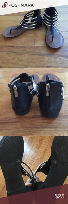 Jessica Simpson Gladiators Super adorable gladiators that are perfect for the fall,spring, and summer season! Worn once. No stains. In the second picture there are little marks that are unnoticeable. Other than that they are in great condition! Jessica Simpson Shoes Sandals