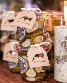 Give jars of pickles as a wedding favor | Brides.com