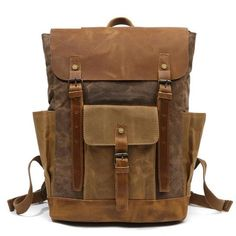 Luggage & Bags Men's Bags Painstaking Solid Pu Leather Vintage Backpack Men Bag Brown Black High Quality Laptop Back Pack Male Large Casual Bagpack Mochila 2019
