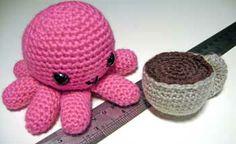 Craft Salad: DIY Amigurumi: Baby Octopus and Coffee Cup