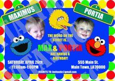 Sesame Street Faces Birthday Invitation by InvitasticInvites, $12.00